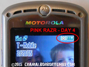 motorola br50 battery replacement test - day four battery charge level indicator results