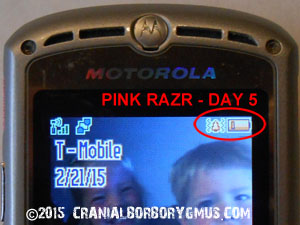 motorola br50 battery replacement test - day five battery charge level indicator results