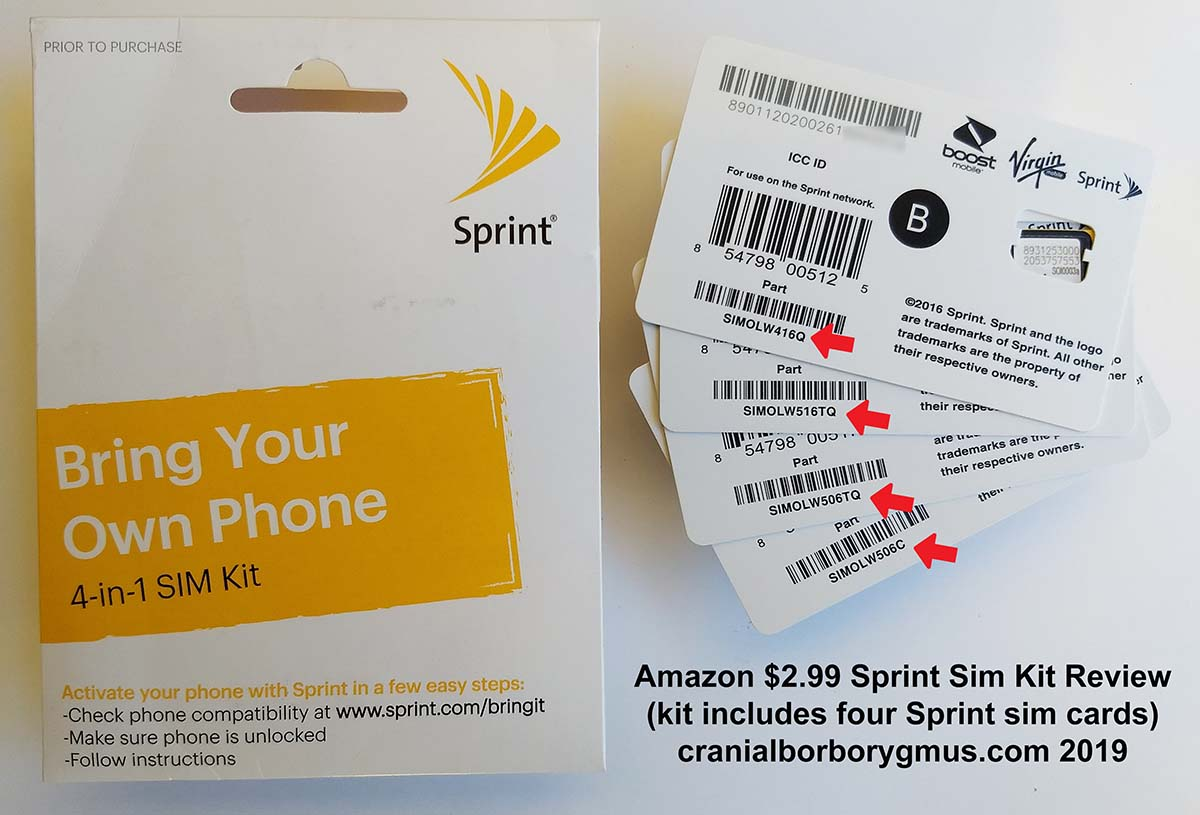 0 99 Sprint Sim Card Kit Info And Review