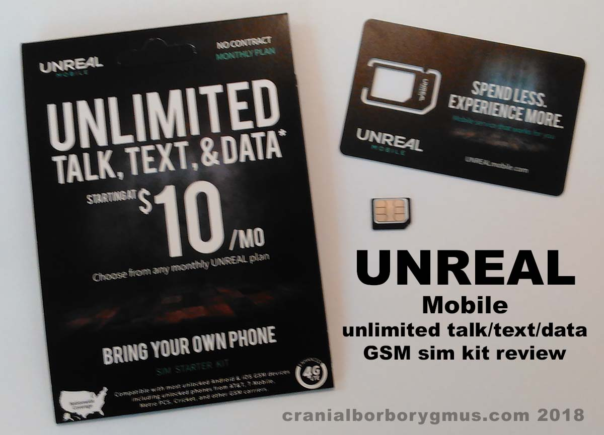 UNREAL Mobile review: $0 01 penny sim offer, $10 unlimited